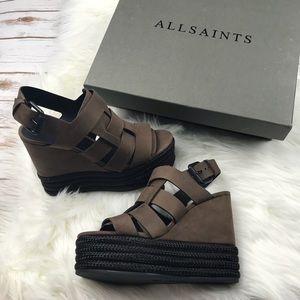 733ae1b44fd All Saints Shoes - All Saints Marzee Platform Wedge Sandals